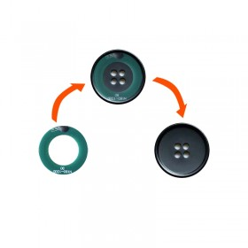 NFC tag 213 chip Customized F08 laundry electronic tag NFC252 RFID button smart anti-counterfeiting factory